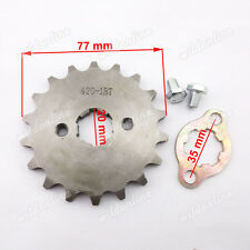 420 20mm 18 Zähne vorn Kette Kettenrad Für Pit Dirt Bike ATV Thumpstar SSR
