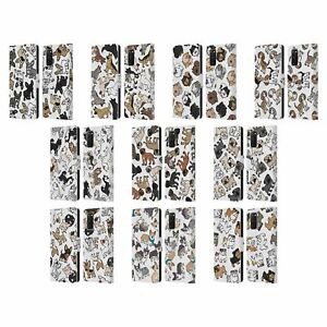 HEAD CASE DOG BREED PATTERNS LEATHER BOOK CASE & WALLPAPER FOR SAMSUNG PHONES 1