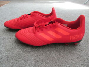 Adidas Predator  Youth  Red Soccer Shoes  US size 5½  EUR size 38
