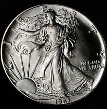 1987 American Silver Eagle 1Oz. .999 Fine silver one dollar coin uncirculated