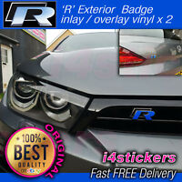 vw scirocco 'R' Badges x 2 Inlay Decal Overlay Sticker Set vinyl
