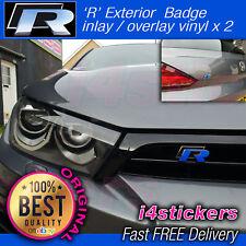 VW Scirocco 'R' insignias incrustación de calcomanía adhesivo superposición X 2 Conjunto de Vinilo