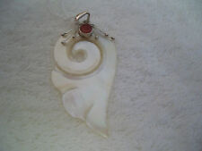 sterling silver pendant with Mother of Pearl and coral!