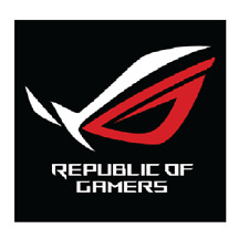 1 x Republic Of Gamers Sticker Red and Silver Metallic Laptop 30mm x 30 Approx