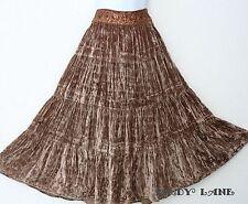 BCBG Full Tiered Crushed Velvet Maxi Skirt Boho Peasant Festival Gypsy NWT $254