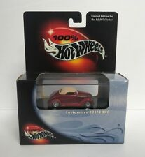 Customized 1937 Ford  100% HOT WHEELS 1/64 scale Limited Edition diecast