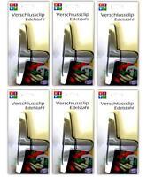 6er Set Edelstahl Verschlussklammern | Beutel Verschlussclips | Beutelclips