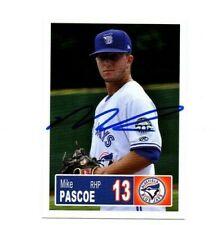 Mike Pascoe 2018 Bluefield Blue Jays auto signed team rookie card Arlington NY