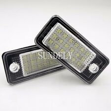 CAN-bus White Error Free LED License Plate Light Lamp For Audi A6 2005-2009 2006