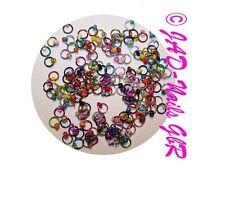 30 Nagelpiercings Nagel-Piercing °farbiger Ring° Nailart
