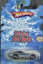 HOT WHEELS ~ HOLIDAY HOT RODS ~ 1969 CORVETTE COUPE ~ SILVER ~ 1/64