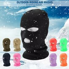 3 Hole Full Face Mask Winter Ski Cap Balaclava Beanie Tactical Warm Hat US