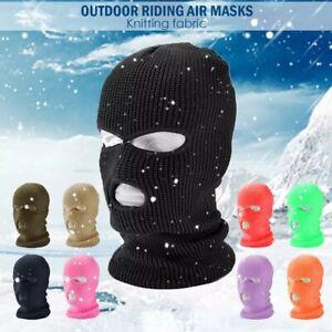 3 Hole Full Face Mask Winter Ski Cap Balaclava Beanie Tactical Warm Hat US