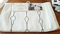 Hearth & Hand Magnolia Embroidered Xmas Ornament Table Runner - Cream and Black