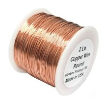 Solid bare Round Copper Wire 2 Lb Spool / choose Gauge And Tamper / Made In USA