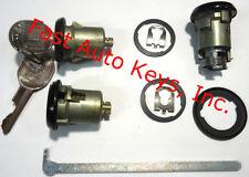 New CHEVROLET GM OEM Black Doors/Trunk Lock Key Cylinder Set With Keys To Match