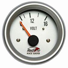 2 5/8 Voltmeter White Face Silver Bezel 258-18 Redline