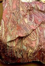 "1 Curtain Paisley Pattern Pink Blue Cream 51""long X154""wide Need Re Hem"