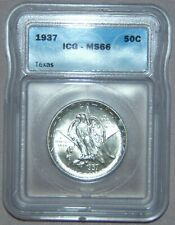 1937 Texas Commemorative Silver Half Dollar ~ ICG MS66, NICE!!!