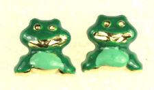Frog Earrings 18K Enamel Italian Jewelry Association WHOLESALE
