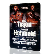 METAL WALL SIGN Mike Tyson Evander Holyfield POSTER Classic BOX Fight RUSTED