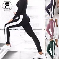 Womens Sports Yoga Leggings Jogging Gym Fitness Pants Athletic Running Trousers