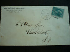 Postal History - USA - Large Banknote Issue Cover - New York to Charleston, SC