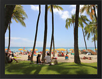 HAWAII WAIKIKI BEACH NEW A3 FRAMED PHOTOGRAPHIC PRINT POSTER