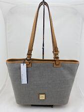 Dooney & Bourke Small Leisure Shopper Tote Shoulder Bag Navy/Natural $238 NWT