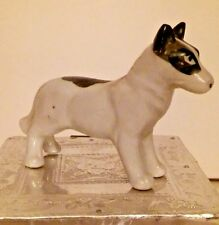 Staffordshire Bull Terrier Porcelain Figurine Japan Fierce Look Estate