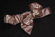 Retro Velvet Brown Bow Tie Style Strechable Belt Unique (S228B)
