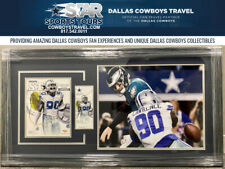 DEMARCUS LAWRENCE FRAMED GAME TICKET & PROGRAM WITH AUTOGRAPHED PHOTO
