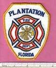 Plantation FL Fla State of Florida Fire Rescue Paramedic Patch - Broward County