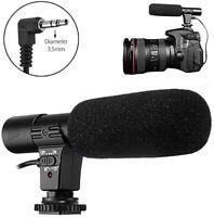 3.5mm  Microphone External Stereo Mic for Canon Nikon DSLR Camera DV Camcorder