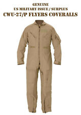 NEW NOMEX US Military Flight Suit CWU-27/P Flyers Tan Coveralls 40 Long NEW