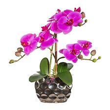Orchidee 3 Rispen Seidenblume Kunstblume Kunstpflanze pink 30 cm 1717300-80 F21