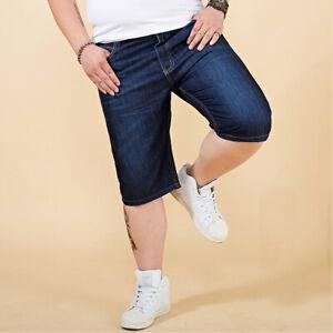 Herren Dünnschnitt Jeans Shorts Kurze Hose Stretch Jeansshorts Bermuda W28-40