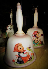 A set of Two Vintage Hummel Bells. Annual Bell, Handcrafted, 1979 & 1981