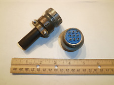 NEW - MS3106A 22-20S (SR) with Bushing - 9 Pin Female Plug