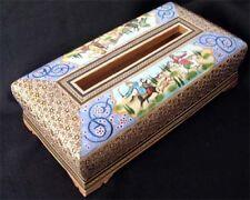 Persian Khatam Inlay Tissue Box Nightingales Peacock Esleemee 1128