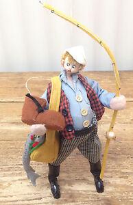 Felt Doll Red Blonde Hair Man Woman Fisherman Boot Spain Character Roldan Nistis