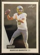 Marcus Mariota 2015 Leaf NSCC National Convention Promo RC Clear Acetate #MM1