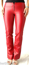 RED PVC LEATHER VINYL PANTS size 7