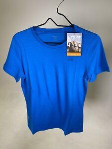 ICEBREAKER 100% Merino Women's Tech 200 T-shirt Crew - Cruise - MEDIUM - NEW!