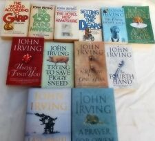 JOHN IRVING - 12 OF HIS BESTSELLERS- THE WORLD ACORDING TO GARP -THE FOURTH HAND