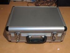 Vintage Alumimum Hard Case Luggage Equipment Camera Storage 16x12x6 Lockable NOS