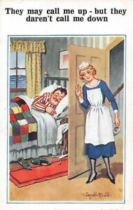 POSTCARD  DONALD MCGILL  GENT - BED - MAID  - CALL ME UP