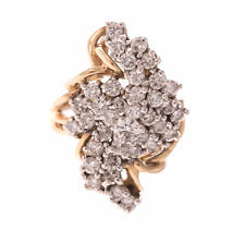 Vintage 14k Diamond Cluster Ring by Exquisite