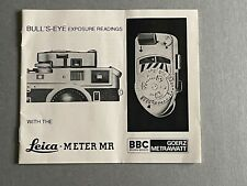 Leica Meter MR, instructions Booklet.