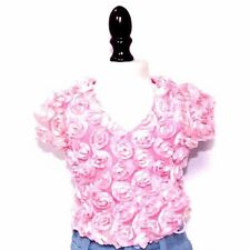 Arianna Pink Roses Top fits 18 inch American Girl Doll